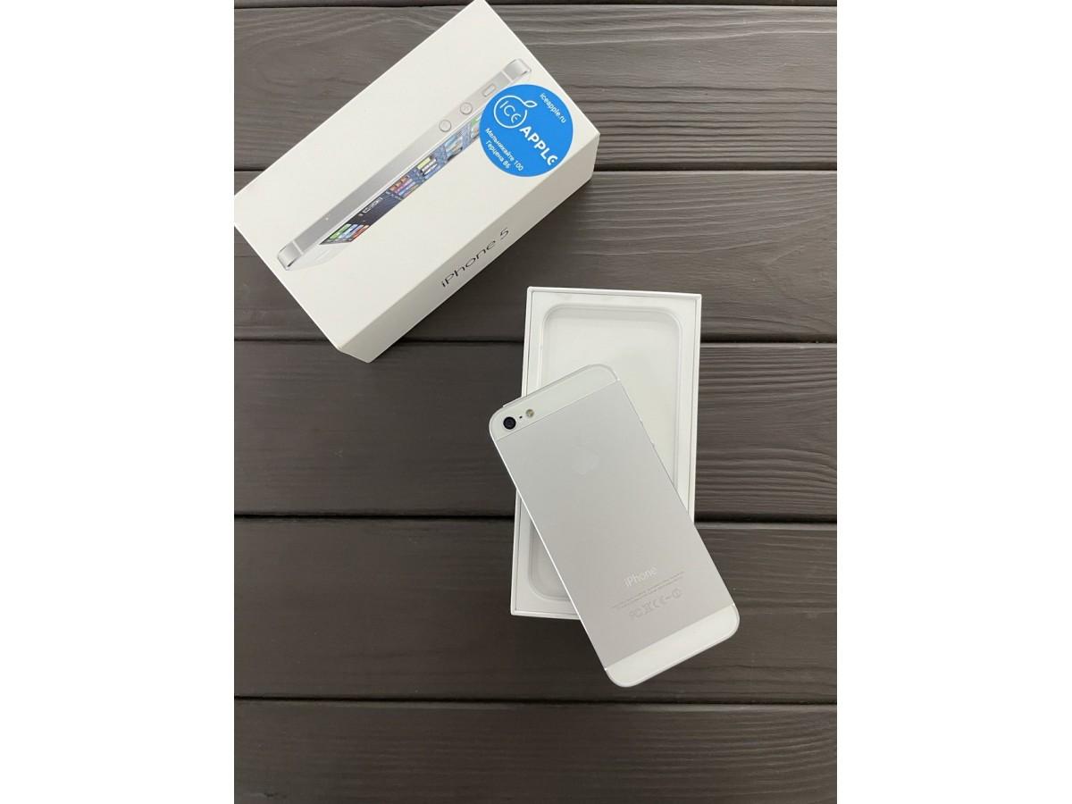 Apple iPhone 5 16Gb White в Тюмени