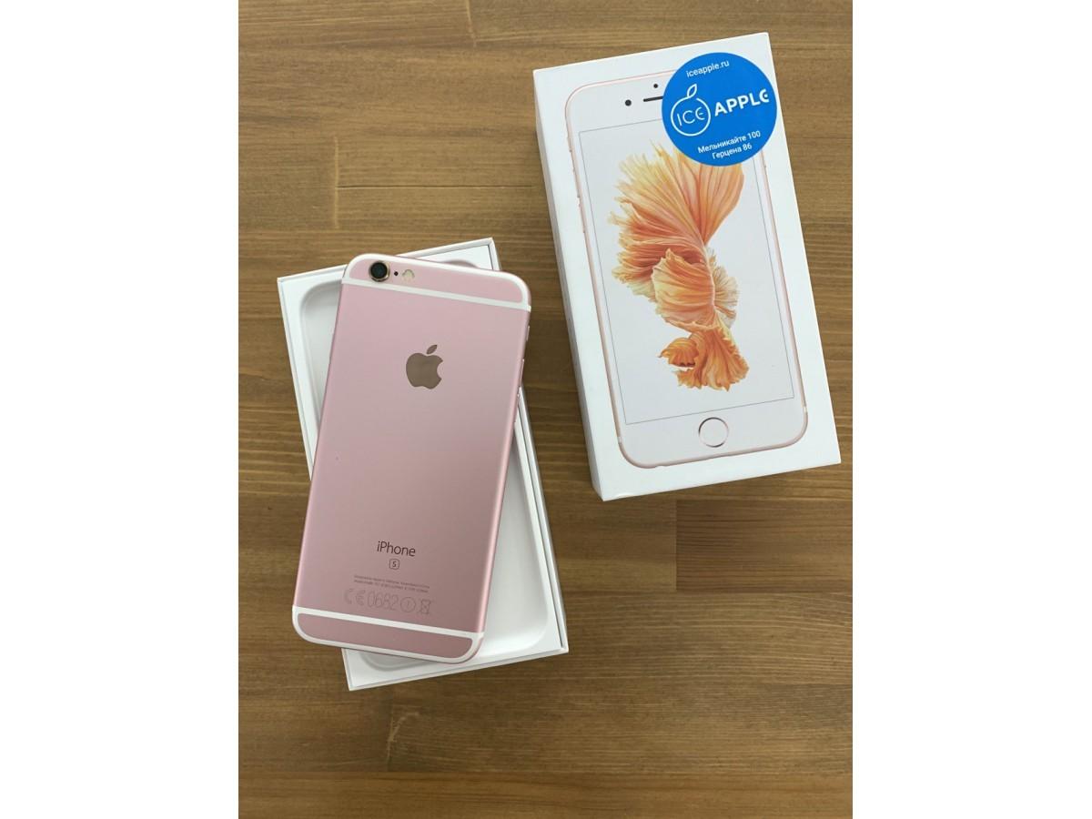 Apple iPhone 6s 16Gb Rose Gold в Тюмени