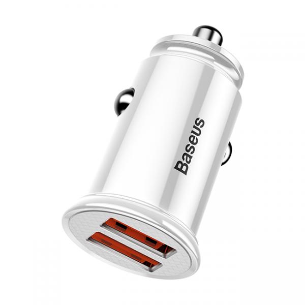 Авто З/У USB Type-C Baseus белый