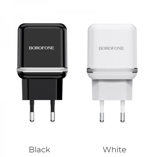 Адаптер питания Borofone A25A 2usb Черный