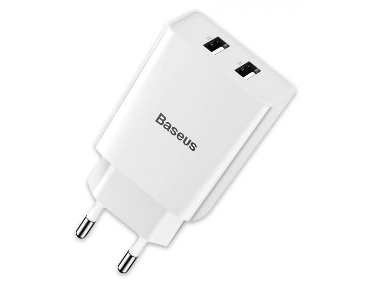 Адаптер питания Baseus Speed Mini 2 USB белый в Тюмени