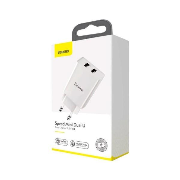 Адаптер питания Baseus Speed Mini 2 USB белый