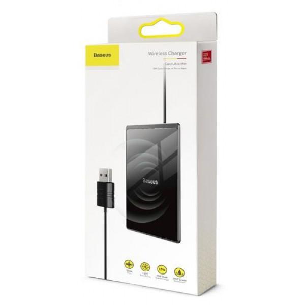 Беспроводное зарядное устройство Baseus Card Ultra-thin 15W черное
