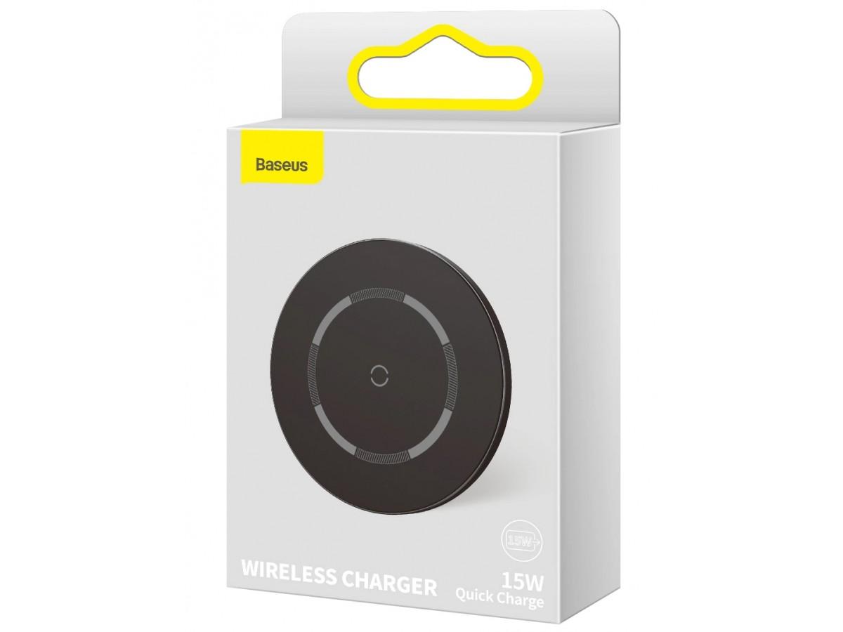 Беспроводное зарядное устройство Baseus Simple Magnetic Wireless Charger 15w черное в Тюмени