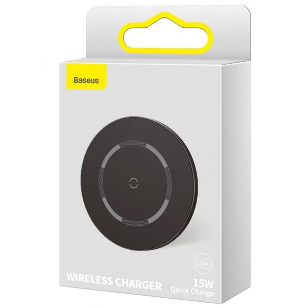 Беспроводное зарядное устройство Baseus Simple Magnetic Wireless Charger 15w черное