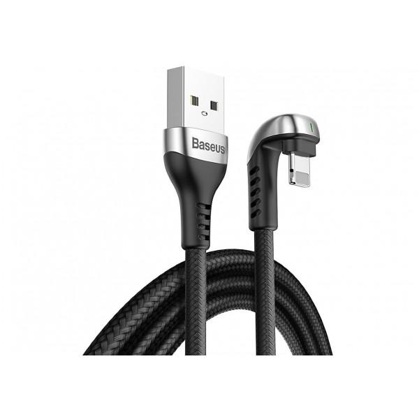 Кабель зарядки Lightning Baseus U-shaped Mobile Game Cable 1m черный
