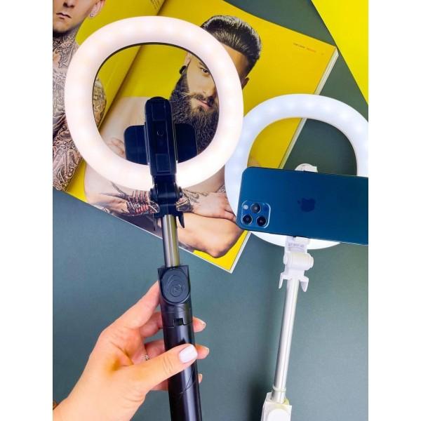 Кольцевая лампа + селфи Трипод ХТ-18 7 белая