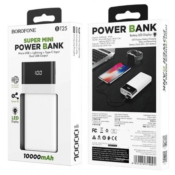 Power Bank Borofone 10000mAh BT25 (белый)