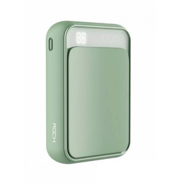 Power Bank Rock P63 Mini 10000mAh (зеленый)