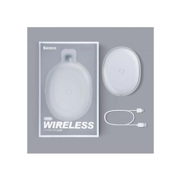 Беспроводное зарядное устройство Baseus Jelly wireless charger 15W белое