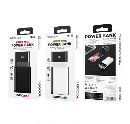 Power Bank Borofone 10000mAh BT25 (черный/белый)