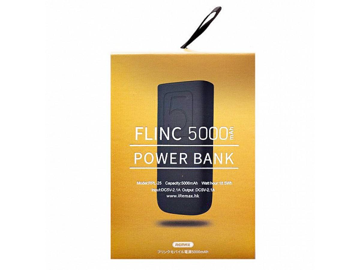 Power bank Remax 5000mAh Flinc RPL-25 (черный/голубой) в Тюмени