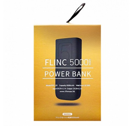 Power bank Remax 5000mAh Flinc RPL-25 (черный)