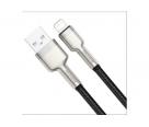 Кабель зарядки Lightning Baseus Metal Data Cable 1m в оплетке черный
