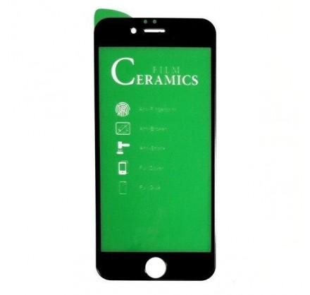 Стекло защитное iPhone 6/6s черное/белое (Ceramics)