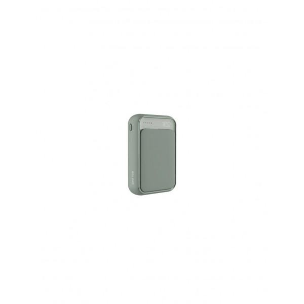 Power Bank Rock P63 Mini 10000mAh (черный/зеленый)