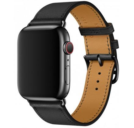 Ремешок кожаный Apple Watch 42/44 мм Genuine черный