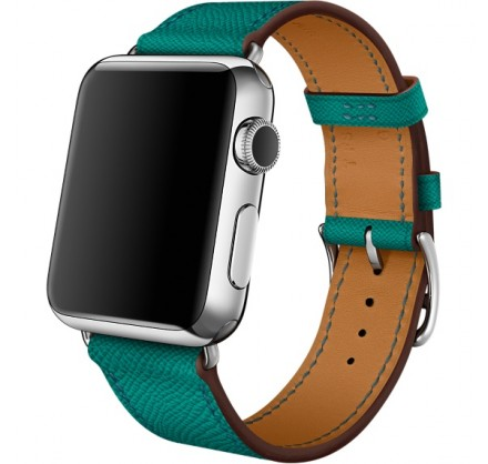 Ремешок кожаный Apple Watch 42/44 мм Genuine зеленый