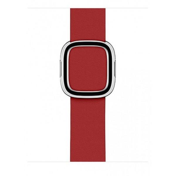 Ремешок кожаный Apple Watch 42/44мм Modern Buckle (красный)