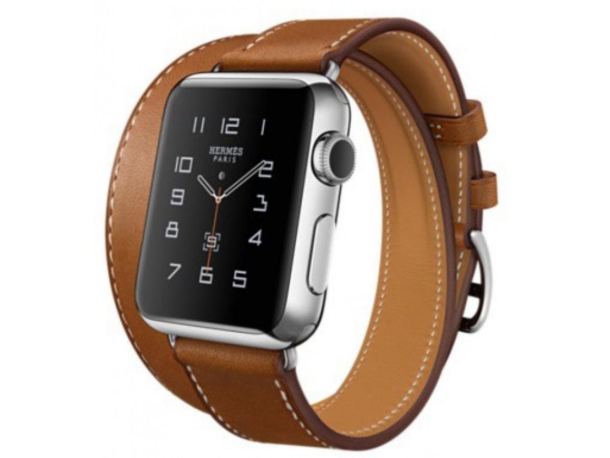 Ремешок Apple Watch 38/40мм (коричневый) в Тюмени