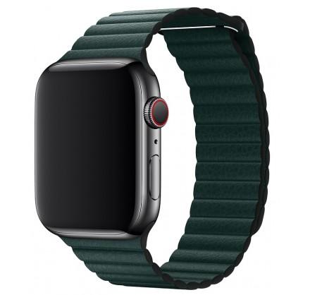 Ремешок кожаный Apple Watch 42/44 мм на магнитной засте...