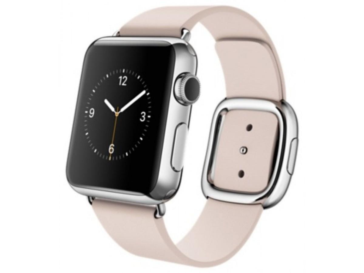 Ремешок кожаный Apple Watch 42/44мм Modern Buckle (розовый) в Тюмени