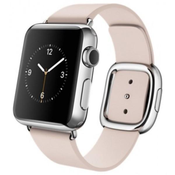 Ремешок кожаный Apple Watch 42/44мм Modern Buckle (розовый)