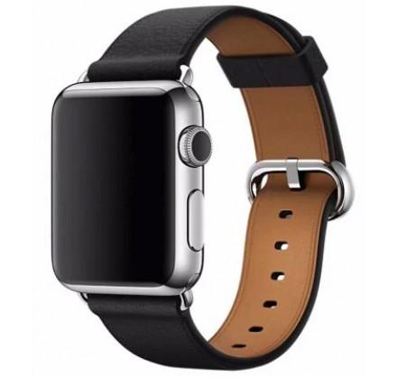 Ремешок кожаный Apple Watch 42/44 мм Classic чёрный