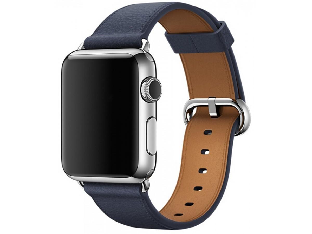 Ремешок кожаный Apple Watch 42/44 мм Classic синий в Тюмени