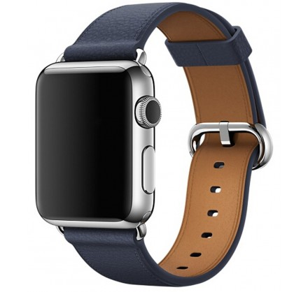 Ремешок кожаный Apple Watch 42/44 мм Classic синий