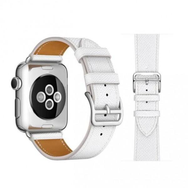 Ремешок кожаный Apple Watch 38/40 мм Genuine белый