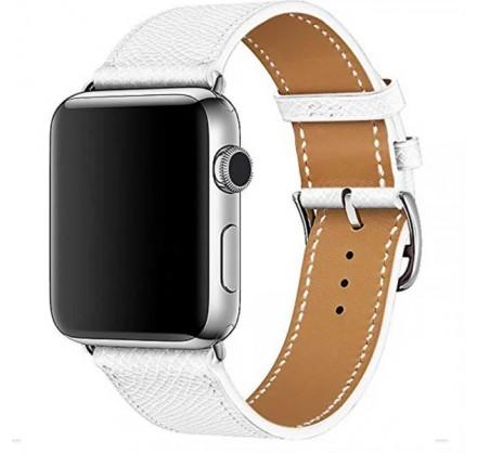 Ремешок кожаный Apple Watch 42/44 мм Genuine белый