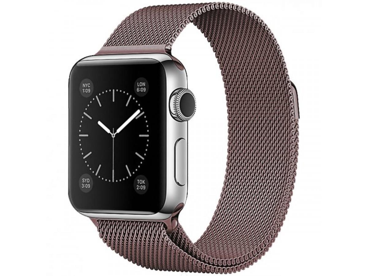 Ремешок миланский браслет Apple Watch 42/44 мм бронзовый в Тюмени
