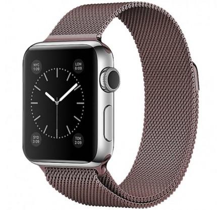 Ремешок миланский браслет Apple Watch 42/44 мм бронзовы...