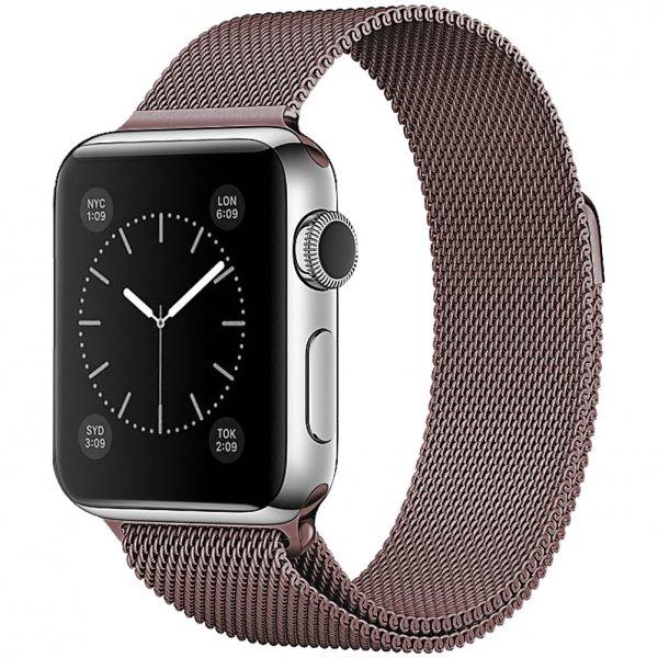 Ремешок миланский браслет Apple Watch 42/44 мм бронзовый