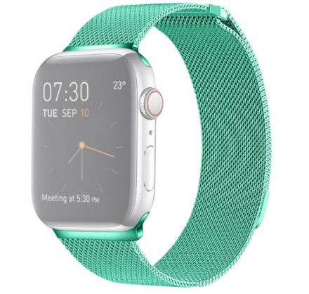 Ремешок миланский браслет Apple Watch 38/40 мм бирюзовы...
