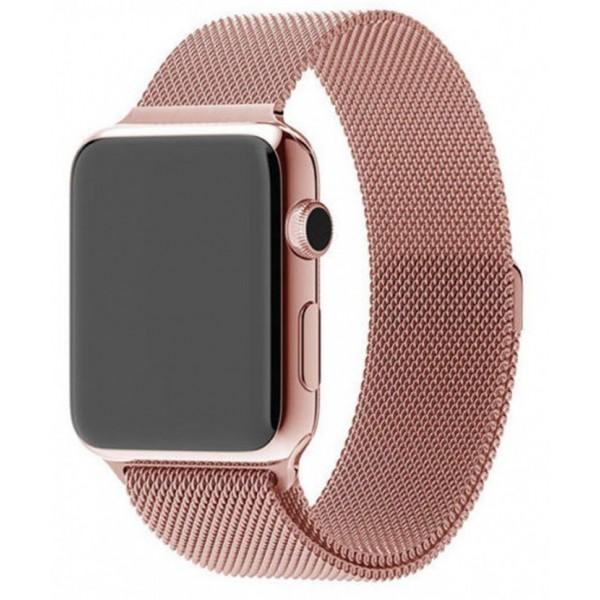 Ремешок миланский браслет Apple Watch 38/40 мм розовый