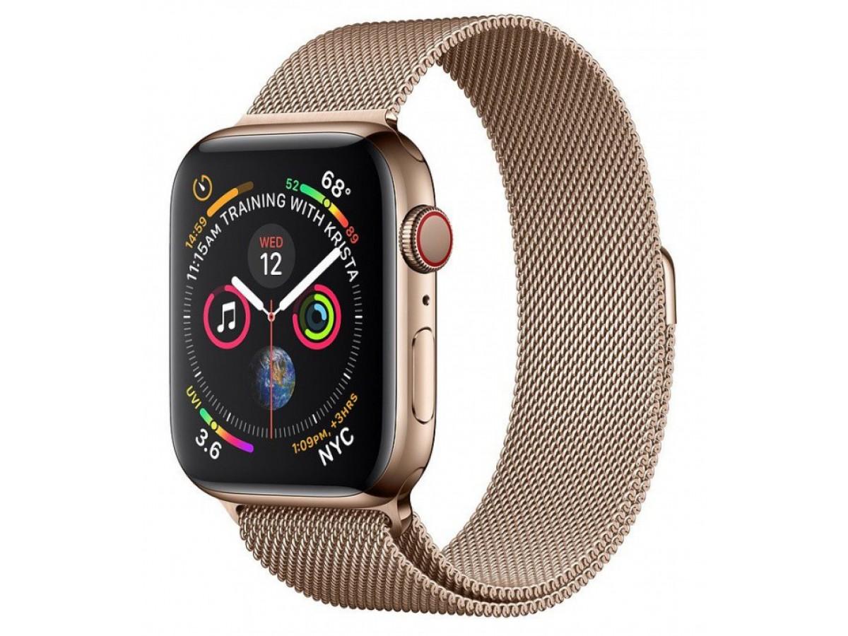 Ремешок миланский браслет Apple Watch 38/40 мм золотой в Тюмени