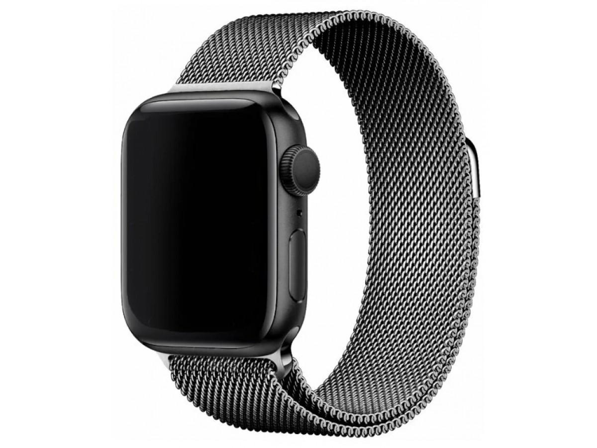 Ремешок миланский браслет Apple Watch 38/40 мм серый в Тюмени