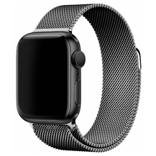 Ремешок миланский браслет Apple Watch 38/40 мм серый