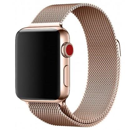 Ремешок миланский браслет Apple Watch 38/40 мм розовое ...