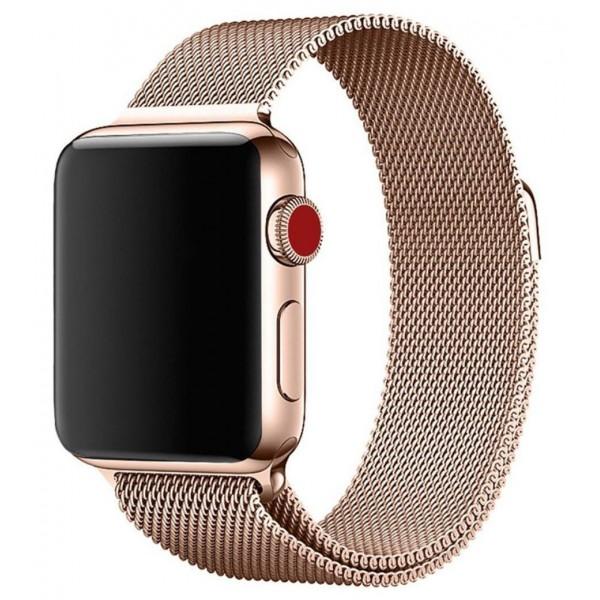 Ремешок миланский браслет Apple Watch 42/44 мм розовое золото