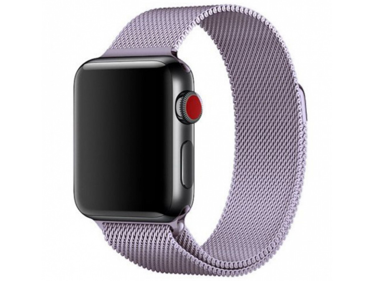 Ремешок миланский браслет Apple Watch 42/44 мм сиреневый в Тюмени