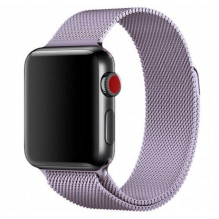Ремешок миланский браслет Apple Watch 42/44 мм сиреневы...