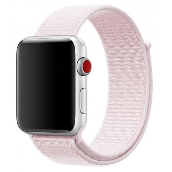 Ремешок спортивный браслет Apple Watch 42/44 мм светло-розовый