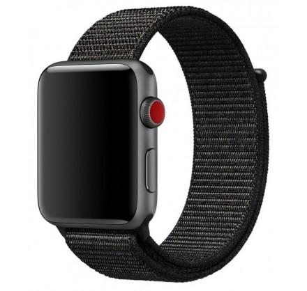 Ремешок спортивный браслет Apple Watch 42/44 мм черный