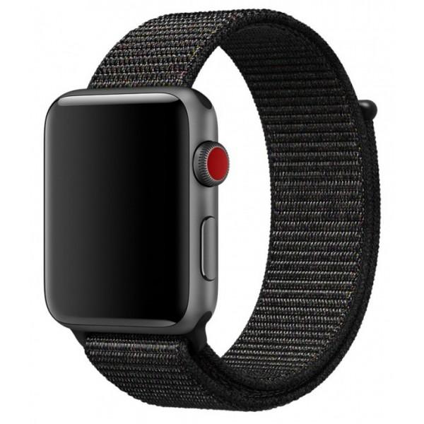Ремешок спортивный браслет Apple Watch 38/40 мм черный