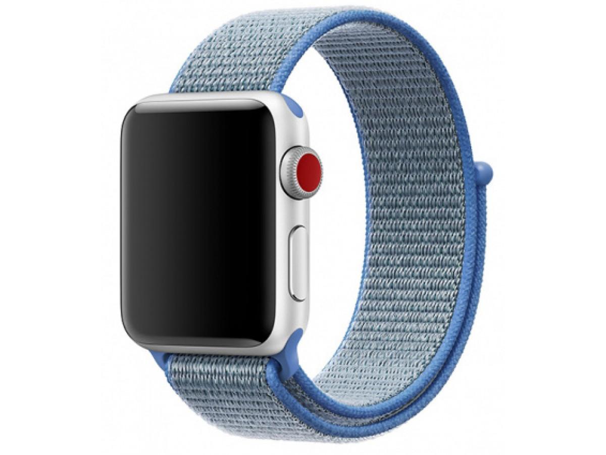 Ремешок спортивный браслет Apple Watch 38/40 мм голубой в Тюмени