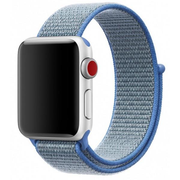 Ремешок спортивный браслет Apple Watch 38/40 мм голубой