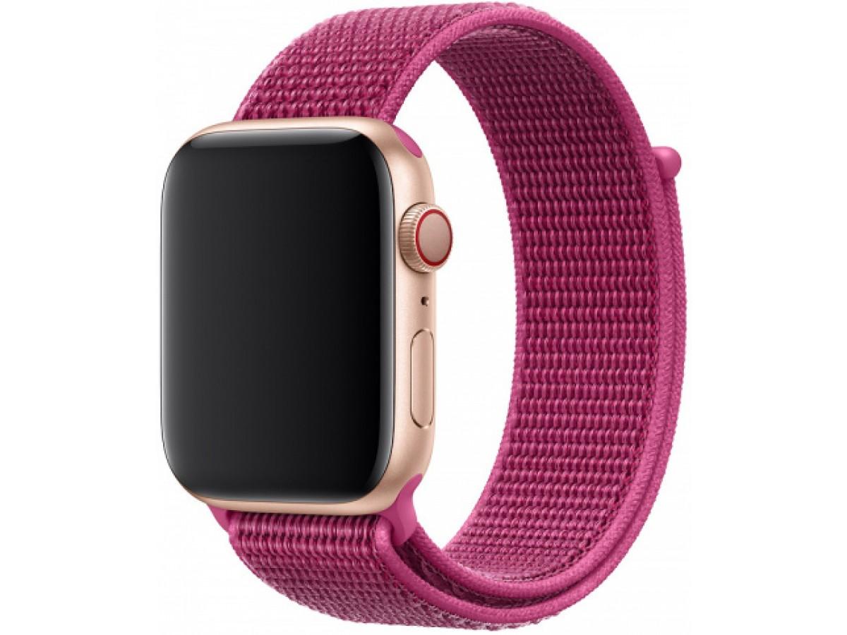 Ремешок спортивный браслет Apple Watch 42/44 малиновый в Тюмени